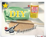 DIY Minipinnwand mit Stoff beziehen